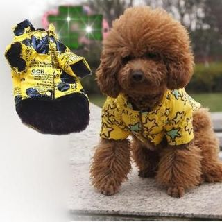 Cute Warm Pet Dog Clothes Puppy Punk Coat Jacket Costume Apparel 2