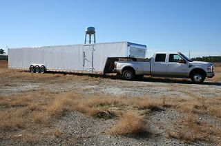 5x 52 52 ENCLOSED CAR AUTO HAULER GOOSENECK TRAILER 21K GVWR GWR