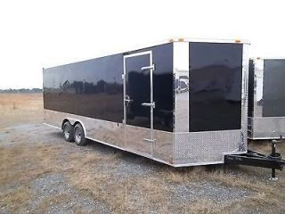 5x28 Enclosed Cargo Auto Car Hauler 8.5 X 28 Black RACE READY OPTION