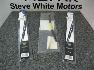 07 12 JEEP WRANGLER FRONT WIPER BLADE BLADES REAR REFILL SET OF 3
