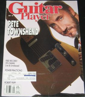 Guitar Player Magazine September 1989 Pete Townsend