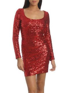 long sleeve sequin mini dress in Dresses