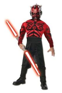 Star Wars Deluxe Muscle Chest Darth Maul Costume Child *New*