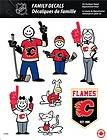 CALGARY FLAMES STICK PEOPLE FAMILY DECALS ~ FULL COLOR VINYL DECALS