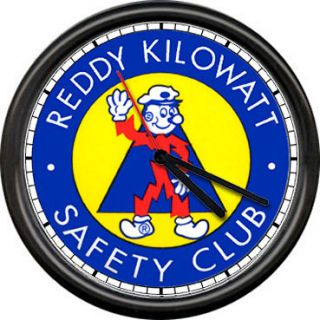 Reddy Kilowatt Electrician Utility Lineman Electrical Safety Sign Wall