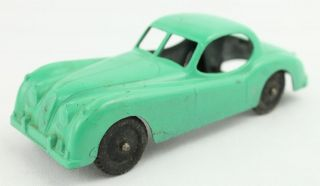 Vintage Tootsie Toy Diecast Metal Green Jaguar XK 140 Car A