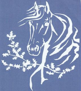 WINDOW, VEHICLE, TRAILER, 4 WHEELER HORSE VINYL DECAL