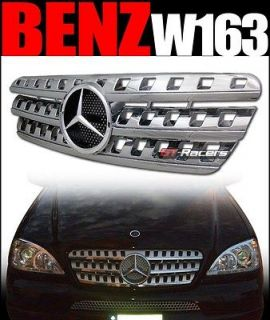 CHROME AMG STYLE FRONT HOOD BUMPER GRILL GRILLE 1998 2005 MERCEDES