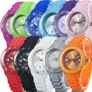 Stylish Silicone Wrist Watch Jelly Strap Unisex Men Lady Girl Gifts