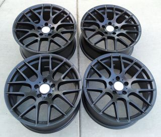19 Acura TL 2009 & Up Staggered Alloy Wheels Rims Matte Black Color