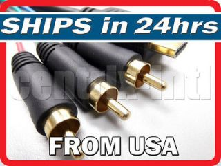 6FT HDMI To RCA Video Component Cable Adapter For PS3 DVD Blu ray PC