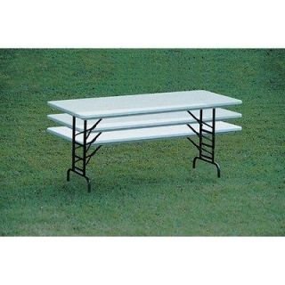 Correll, Inc. Small Plastic Folding Table with Adjustable Legs