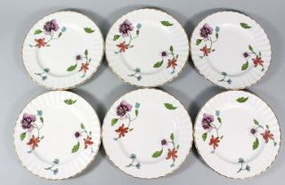 LOT 6 ROYAL WORCESTER ASTLEY Fine China Floral Print Salad Plates