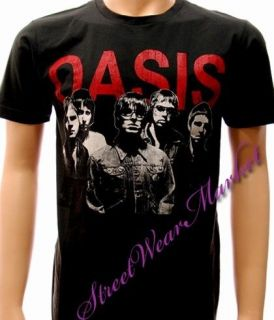 Oasis alternative rock band punk black men T shirt Sz M