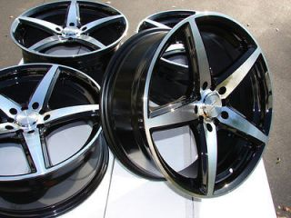 17 Black Effect Wheels Rims 5 lugs Audi TT Sebring Scion TC Camry