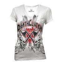 DEATHCLUTCH WHITE AXES TEE WOMENS SIZE X LARGE BROCK LESNAR UFC V
