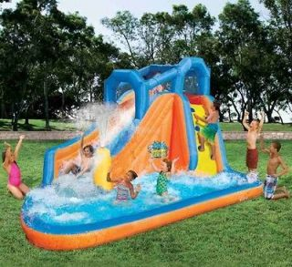 Banzai Gushing Geyser Inflatable Bounce House Waterpark Water Park