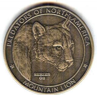 C3748 NORTH AMERICAN HUNTING CLUB BRONZE MEDAL, MOUNTAIN LION