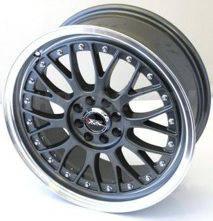 17 x 7J 4x100+108 GUN METAL BBS STYLE ALLOY WHEELS FORD JAP Z1412