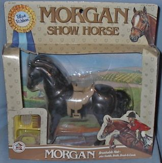 MORGAN SHOW HORSE BLUE RIBBON 1987 w/box 7 1/2 horse box rough