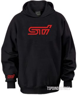 Subaru Impreza Wrx STI Logo Hooded Sweater Black WRC Rally