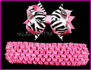 Girl Baby Costume Boutique Hair Flower Ribbon Bow Headband DG Y