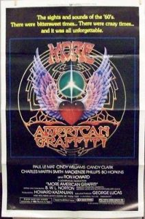 VINTAGE ORIGINAL MORE AMERICAN GRAFFITI A ONE SH.