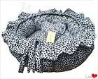 black and white circular lace warm and comfortable dog cat litter