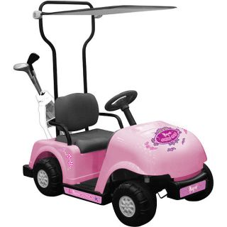 Child Size Pink Girls Ride On Golf Cart Car 6 VOLT BATTERY OPERATED