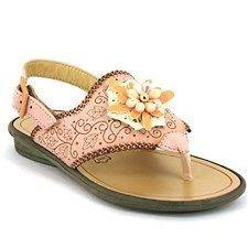 CIAO BIMBI MADE IN ITALY Girls Pink/Beige Designer Sandals Sz 30/AU11