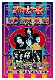 & Plant with Led Zeppelin at the Whisky A Go Go Concert Poster 1969