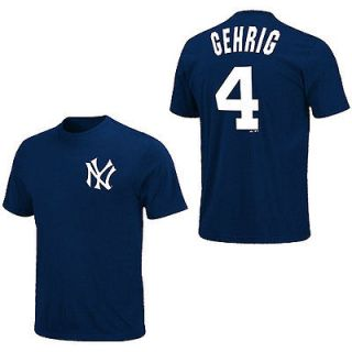 NEW YORK YANKEES Lou Gehrig Jersey T Shirt XXL