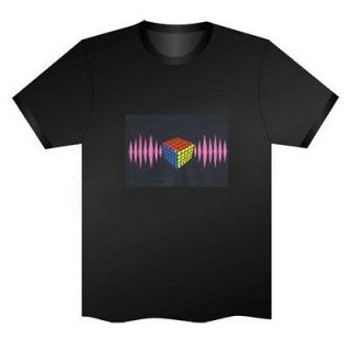 Rubik Cube EL LED T Shirt Cool Gadgets for Rave Party/Disco