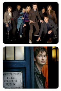 DOCTOR WHO (2) Magnet Set   David Tennant and his Heroes scifi bbc