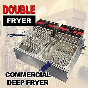 Commercial Restaurant Desktop Counter Electric Deep Fryer Double Tank