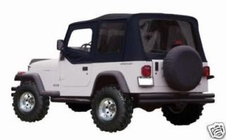 1997 2006 JEEP WRANGLER BLACK SOFT TOP PLUS UPPER SKINS AND TINTED