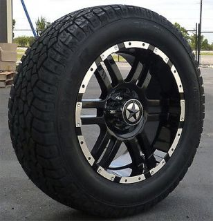 20 Black Wheels & Tires Ford Truck F150, Expedition 20x9, 20 inch