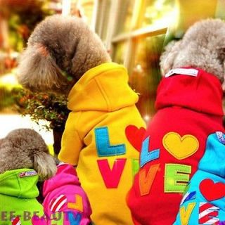 Green Rainbow Sweater Hoodie Pet Dog Clothes Puppy Jumpsuit Small Coat