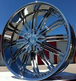 24 chrome rims and tires in Wheel + Tire Packages