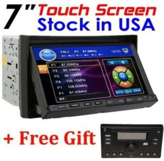 Double Din Car Stereo DVD Player+Free Detachable Panel+RDS Radio