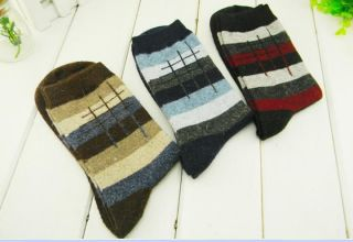 Pairs Rabbit Wool Mens Dress Socks Comfortabe Soft Good for Winter