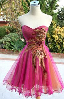 NWT HAILEY $170 Pink Womens Formal Prom Party Gown 4