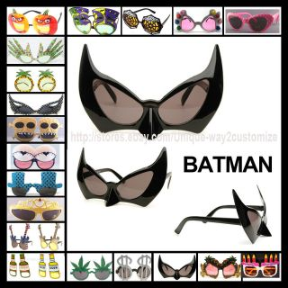 BATMAN Sunglasses for Fun Halloween Costume CAT WOMAN BAT MAN EYEWEAR