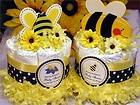 AS CAN BEE baby shower mini diaper cake centerpiece   bumblebee favors