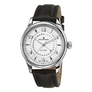 Revue Thommen Mens 10012.2532 Date pointer Mens Black Leather Strap