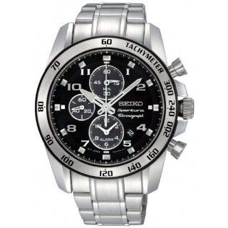 Steel Black Dial Chronograph Alarm Watch Watches