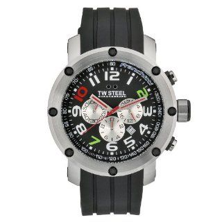 TW Steel Mens TW608 Quartz Stainless Steel Case Black Chronograph