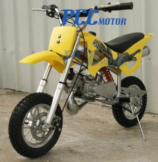 49CC 50CC 2 STROKE GAS MOTOR MINI BIKE DIRT PIT BIKE YELLOW H DB49A