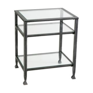 Distressed Metal End Table   Black product details page