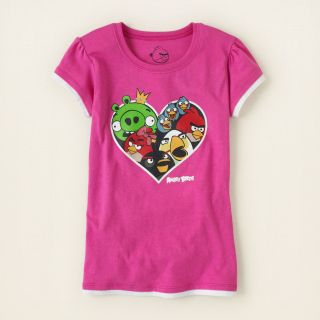 girl   graphic tees   licensed   Angry Bird heart graphic tee